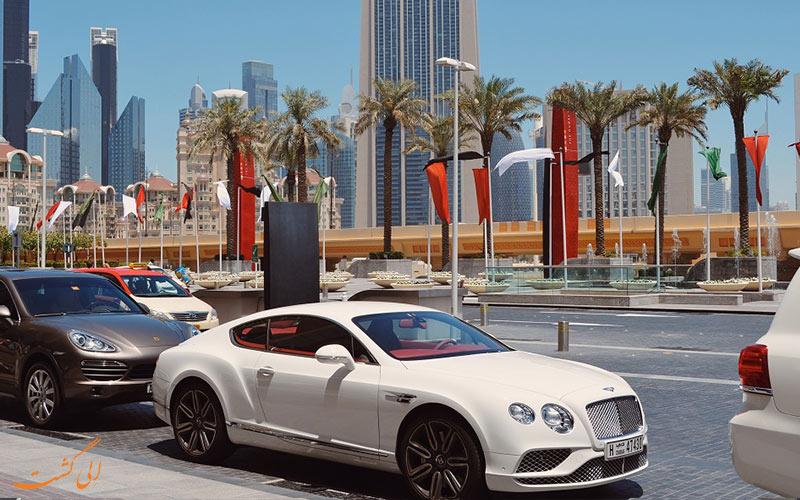 أنواع السيارات في شوارع دبي