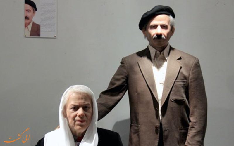 تمثال شمعي لسيمين دانيشفار وجلال الأحمد