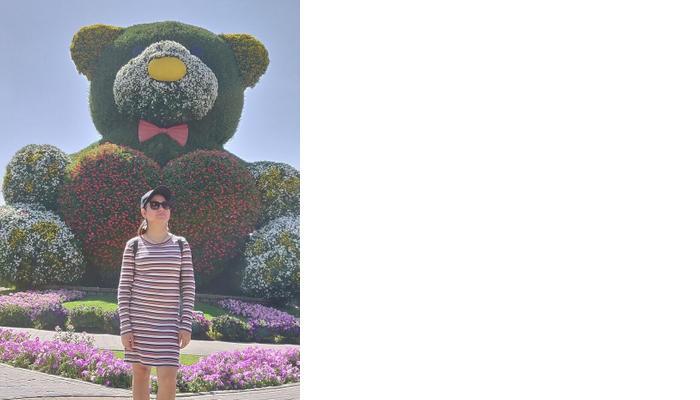 في حديقة الزهور
