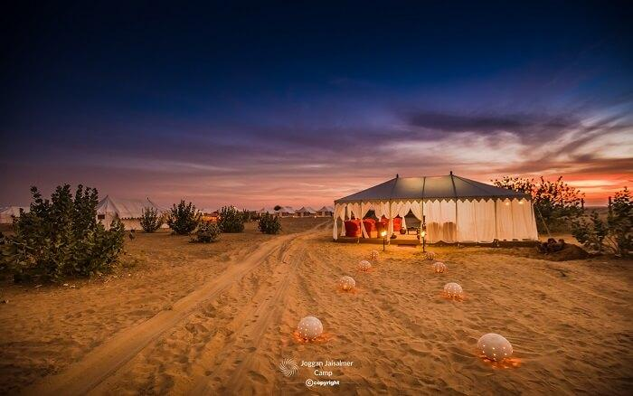 Exotic luxury desert camping in Rajasthan