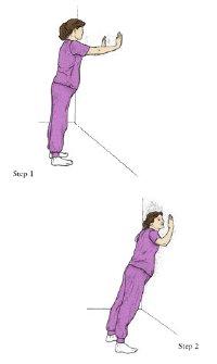 التدريب التمرين في الحمل - تتحرك على الحائط