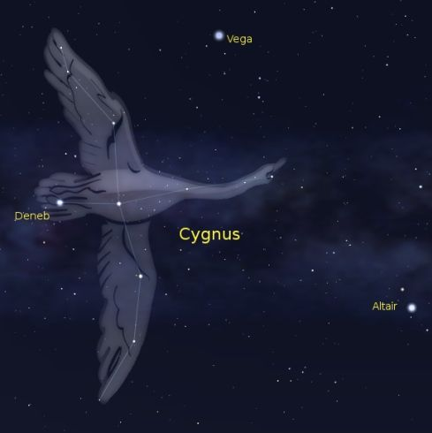 مثلث Cygnus-Northern-Cross-Summer-Triangle