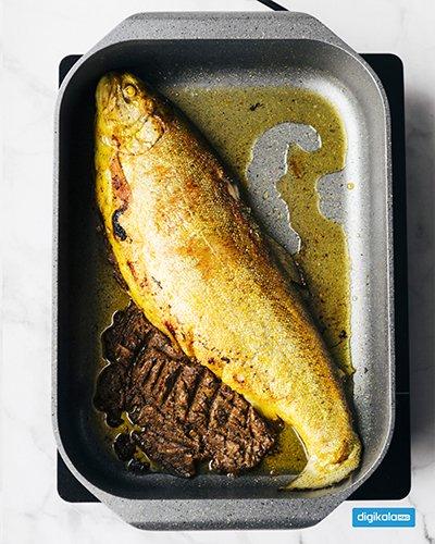 سمك محشي بعجينة الرمان