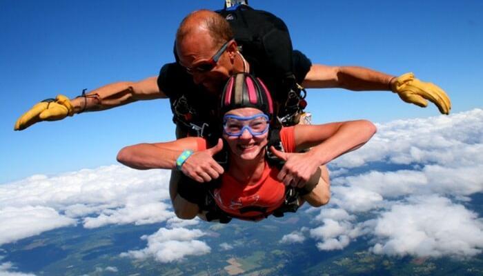 Skdiver، أخذ tandem، القفز بالمظلات، إلى داخل، نيوزيلندة