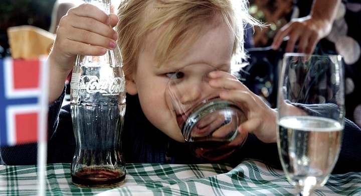 استهلاك الأطفال للمشروبات الغازية
