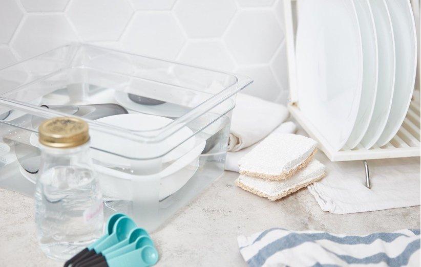 اغسل الأطباق أو المبيض