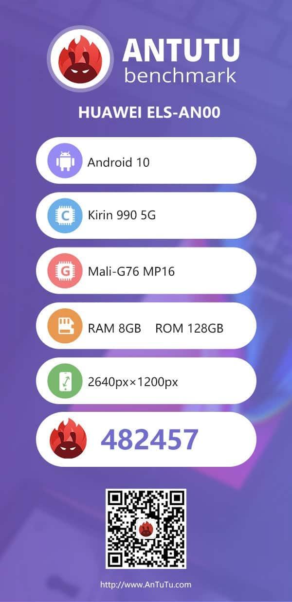 نقاط Huawei P40 Pro المرجعية على AnTuTu