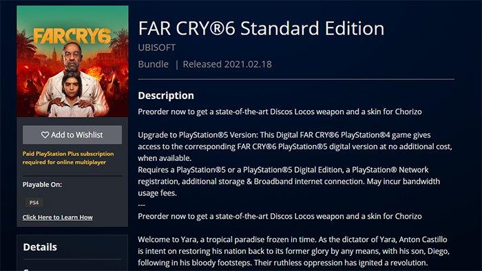 تسريب معلومات لعبة Far Cry 6