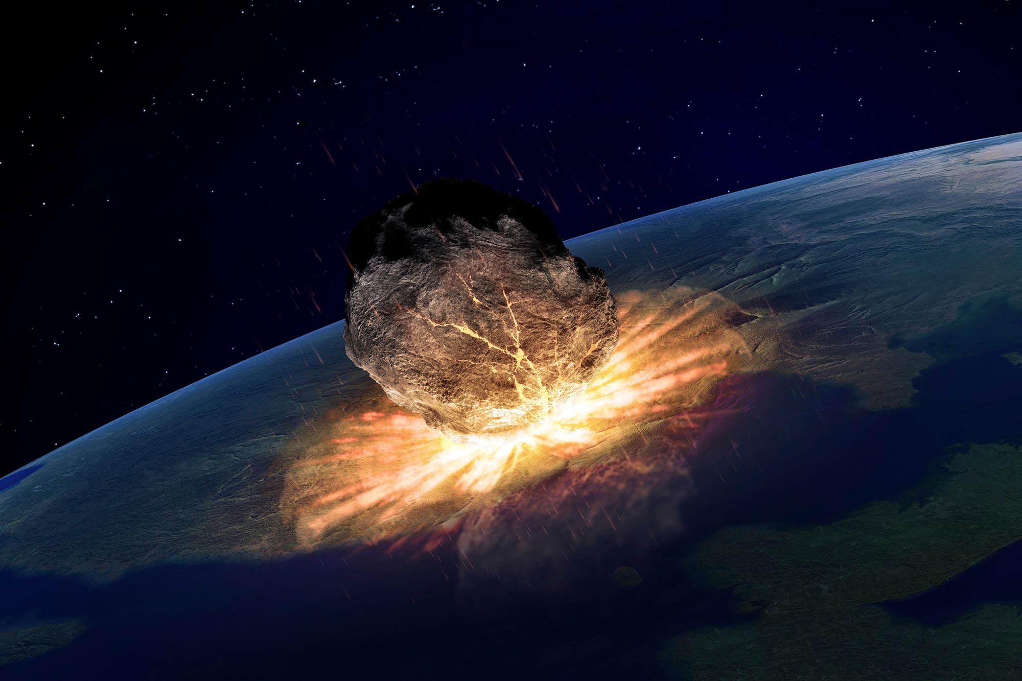 ضرب الكويكب الأرض