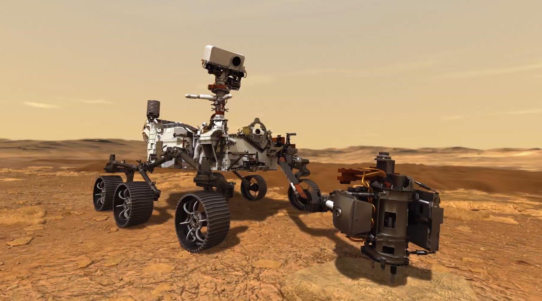 نظام مناولة عينات المريخ المثابرة المندمج مدمج بواسطة NASA JPL