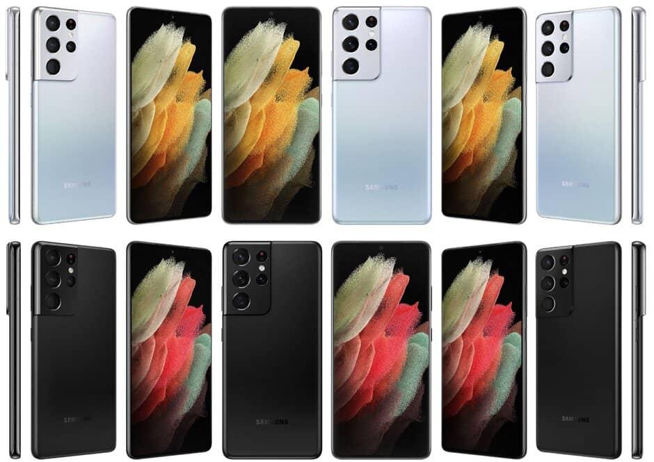 تصميم Galaxy S21 Ultra لافت للنظر في هذه العروض الرسمية أكو وب