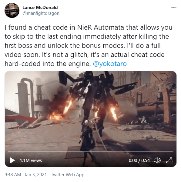 اكتشف كلمة مرور لعبة NieR Automata