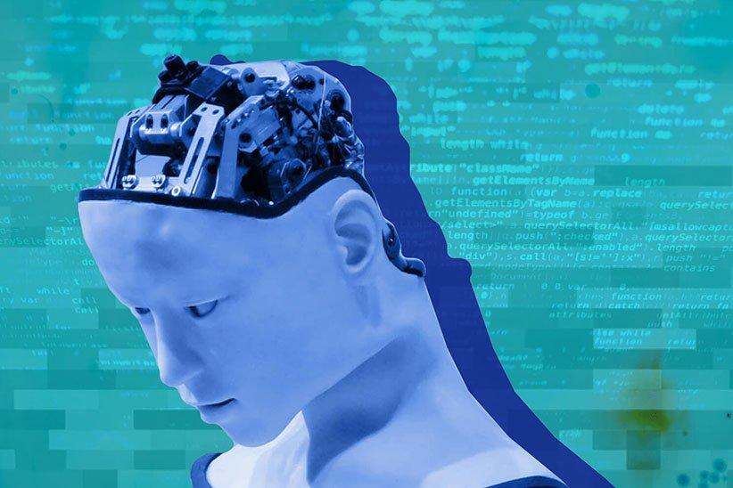 صورة بيانية لدماغ الروبوت