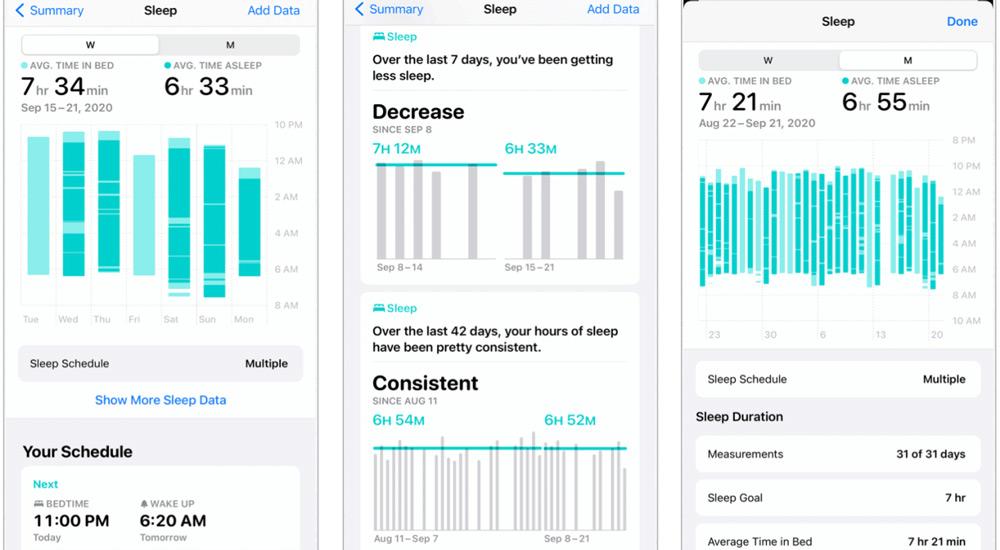 انقر فوق إظهار المزيد من بيانات النوم