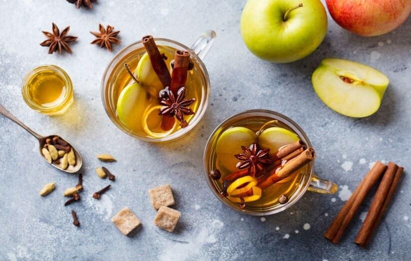 قشر التفاح - شاي مهدئ