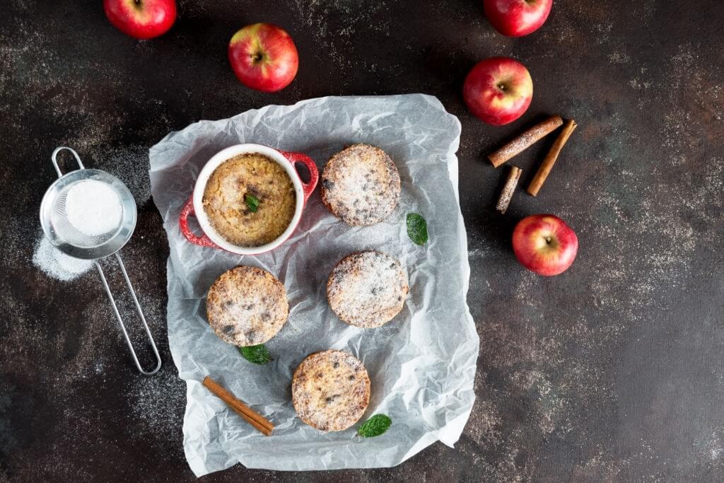 قشر التفاح - الفطائر والكعك