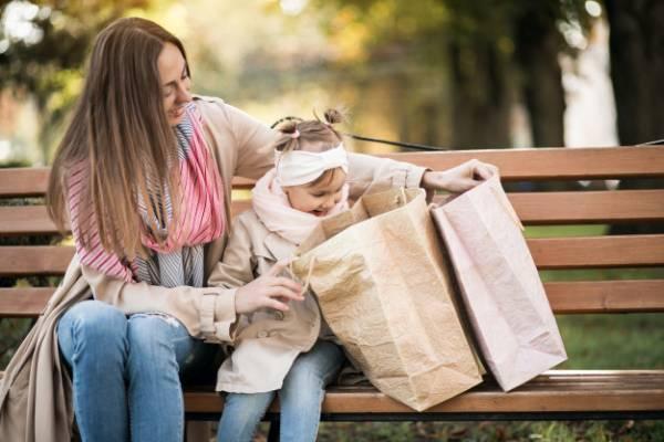 التسوق مع الطفل