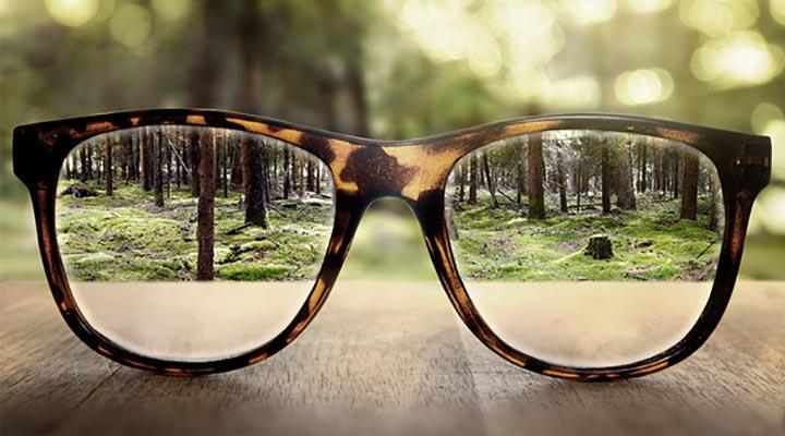 شاهد طبيعة إطار النظارات