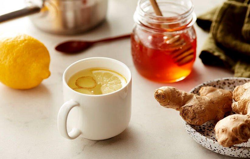 شاي الزنجبيل لالتهاب الحلق