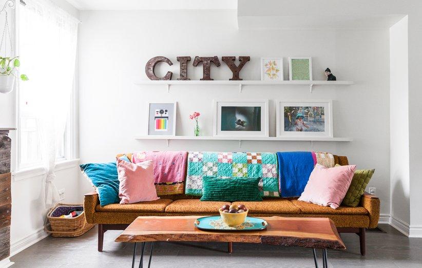 ملحق في تصميم غرفة معيشة صغيرة