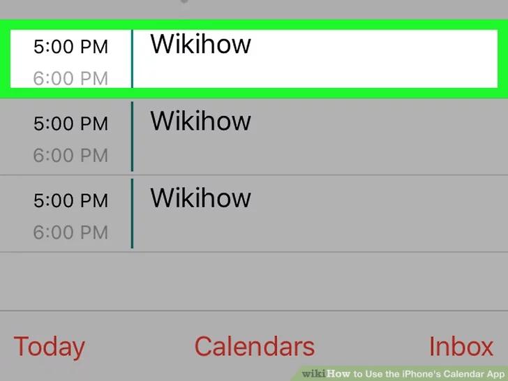 ابحث عن الحدث في التقويم الخاص بك