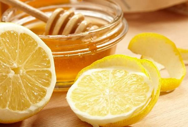 قشر الليمون والعسل