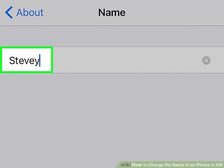 اختر اسمًا جديدًا لجهاز iPhone الخاص بك