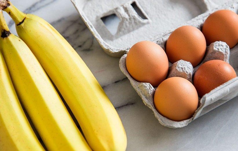 قناع الموز والبيض