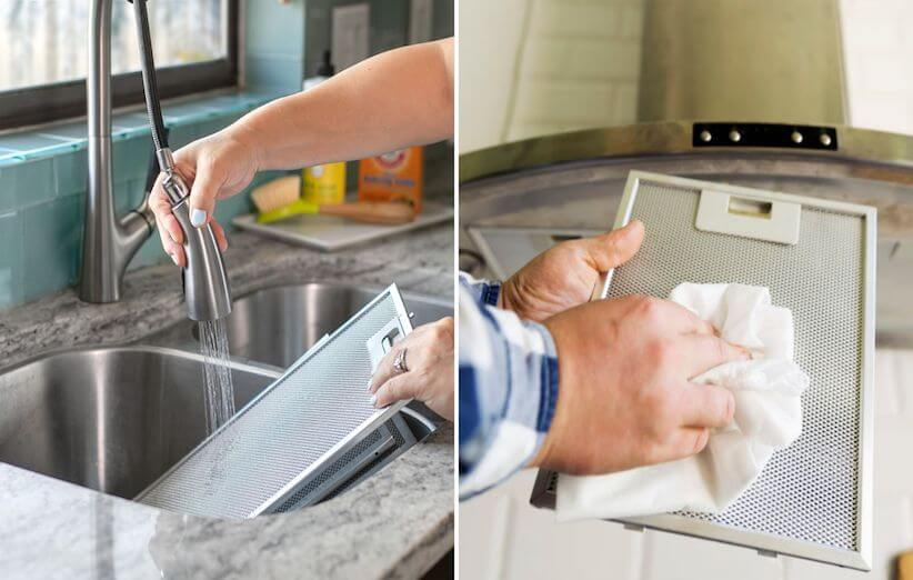 10 خطوات لتنظيف شفاط المطبخ - اغسل المرشحات