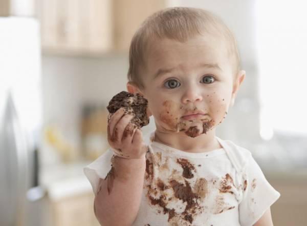بقع الشوكولاتة على الملابس