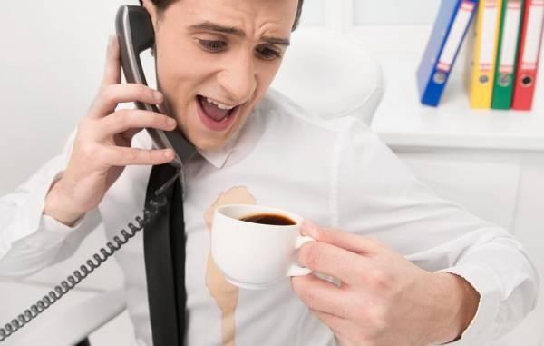 إزالة بقع القهوة عن الملابس
