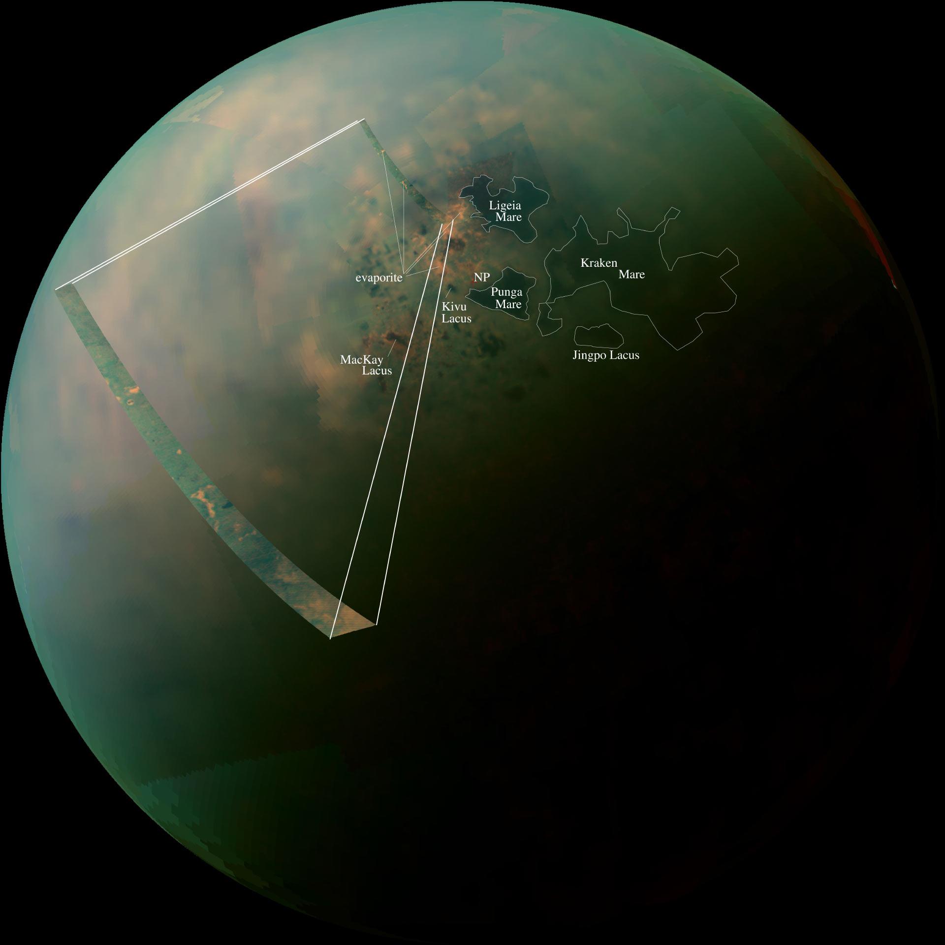صورة بحيرات تيتان