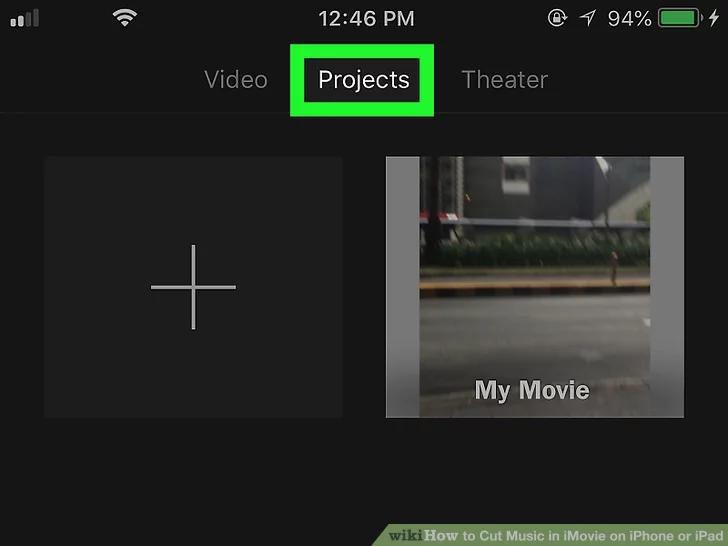 اضغط على علامة التبويب المشاريع في الجزء العلوي من الشاشة