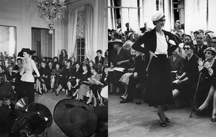 عرض أزياء في الأربعينيات