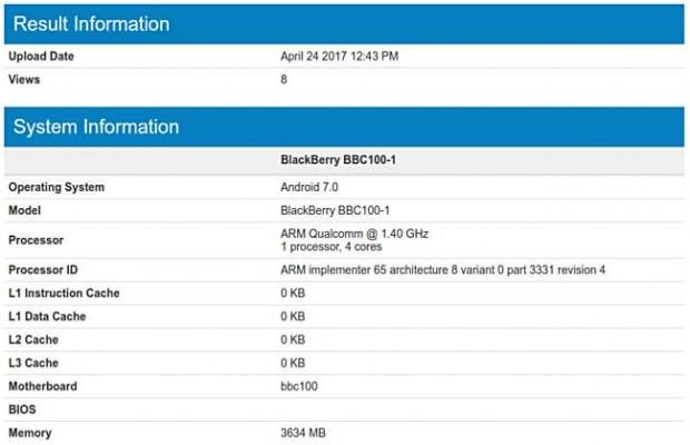 BlackBerry BBC100-1 في معيار Geekbench