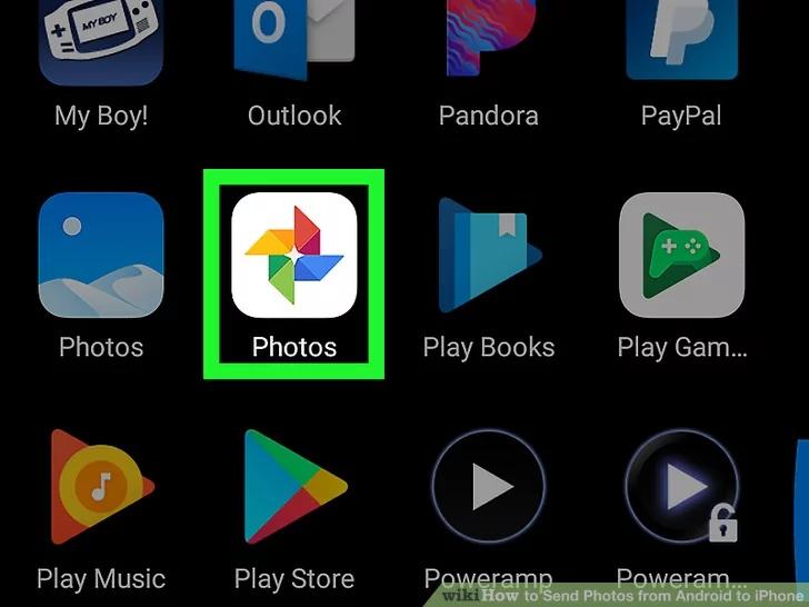 افتح تطبيق صور Google على جهاز Android الخاص بك
