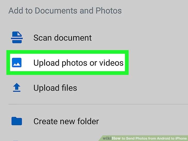 قم بتحميل صورك على تطبيق Dropbox