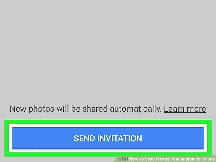 اضغط على إرسال دعوة.