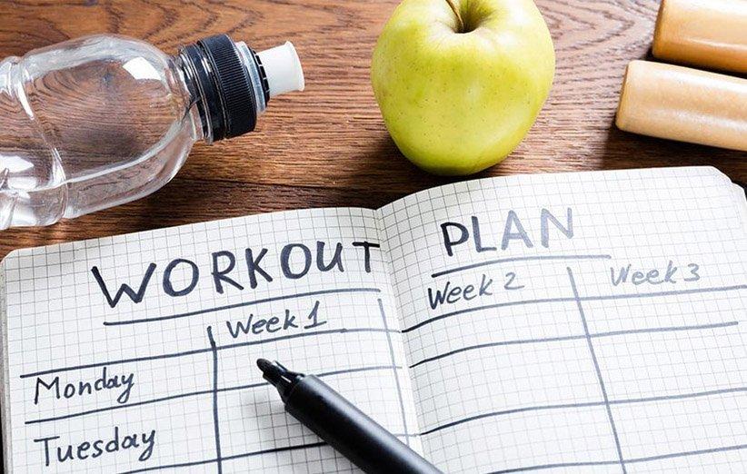 خطة للتمرين والنظام الغذائي
