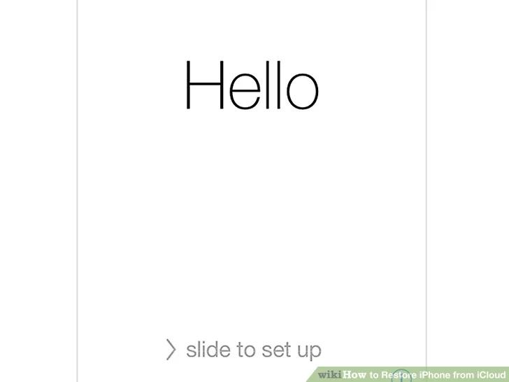 انتظر حتى ينتهي iPhone من إعادة التعيين