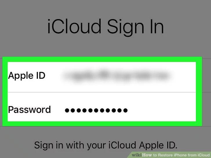 في صفحة قفل التنشيط ، أدخل معرف Apple وكلمة المرور