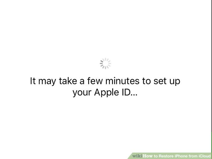 انتظر حتى تنتهي استعادة جهاز iPhone الخاص بك