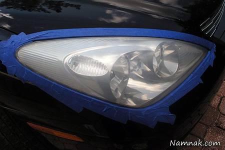 تلميع المصابيح الأمامية للسيارة