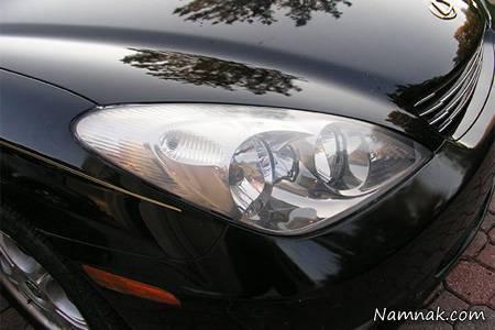 تنظيف المصابيح الأمامية للسيارة