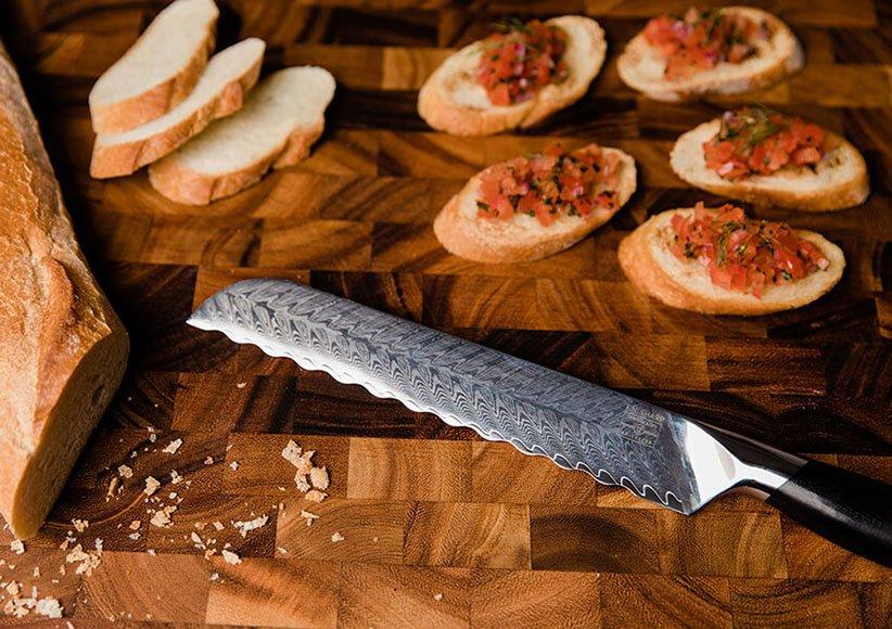 سكاكين الخبز من أنواع سكاكين المطبخ
