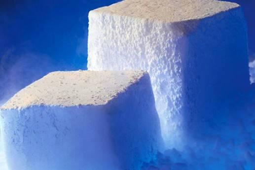 تطبيقات الثلج الجاف