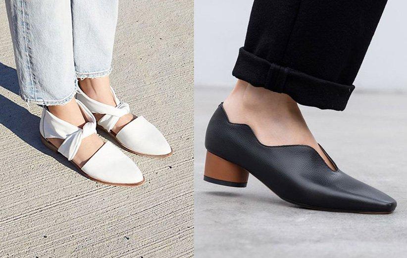 أحذية بأسلوب بسيط