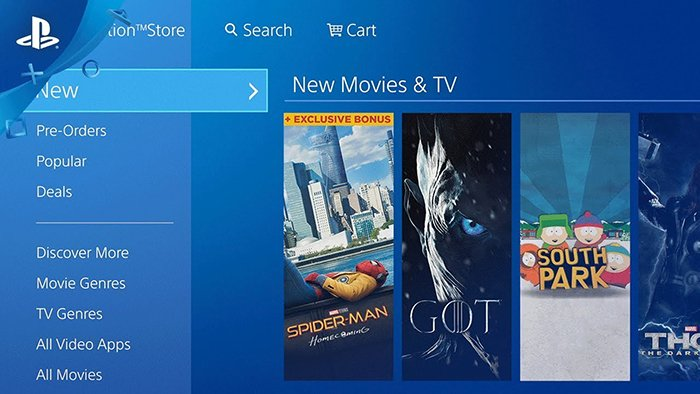 PlayStation Movie and Serial Store
