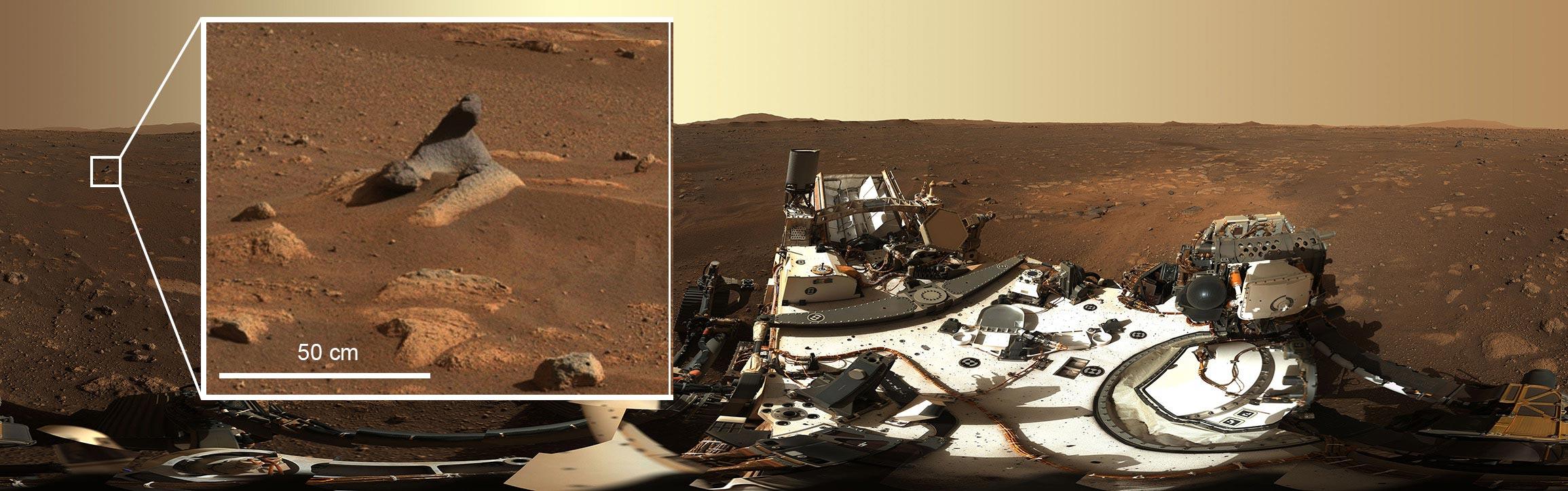 ريح المريخ منحوتة الصخور
