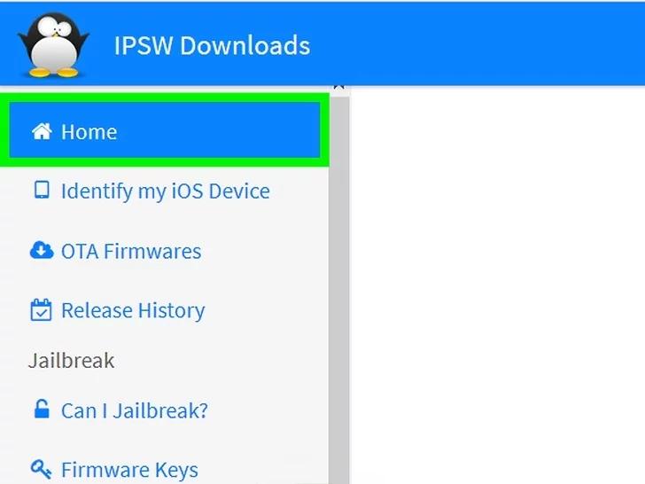 قم بالبحث في Google عن ملف IPSW